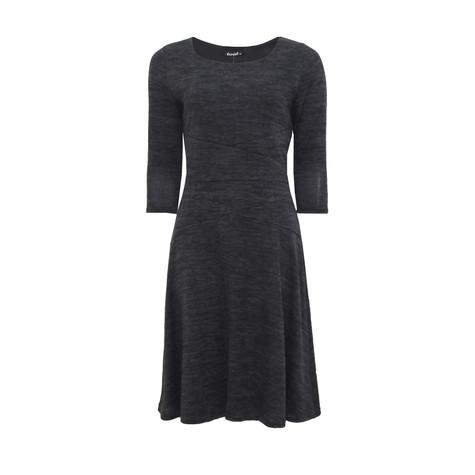 Twist Grey Fit N Flare Dress
