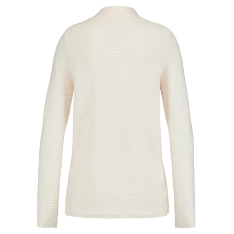Olsen MOCKNECK JUMPER RIBBED - PALE WHITE