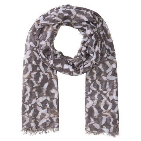 Olsen SCARF FEATHERS - ANTHRA