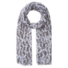 Olsen SCARF FEATHER PRINT - PEARL BLUE