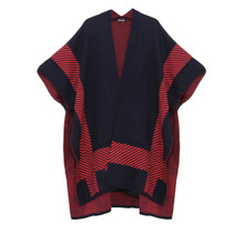 Twist Navy & Coral Stripe Knit