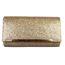 Dice Gold Sparkle Clutch Bag