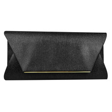 Dice Black Shiny Clutch Bag