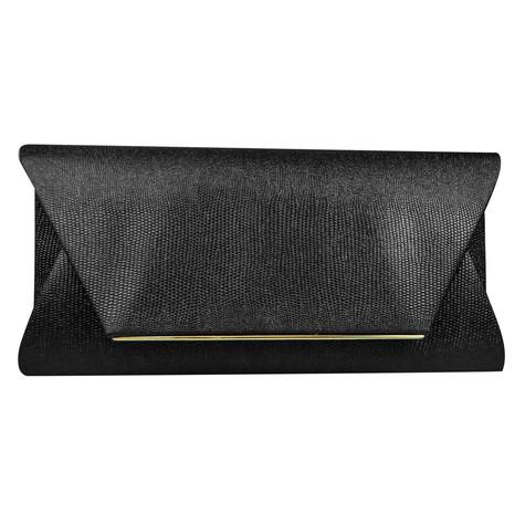 Dice Black Shiny Clutch Bag