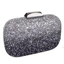 Dice Silver Shell Clutch Bag