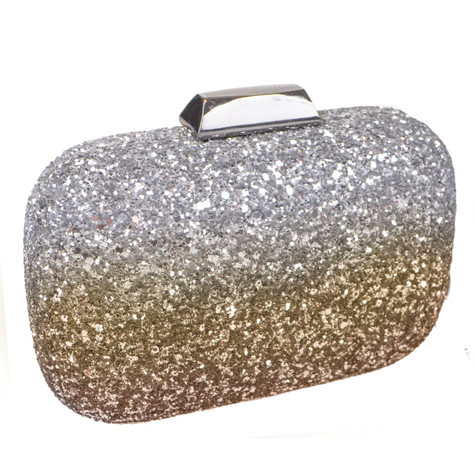 Dice Gold Shell Clutch Bag