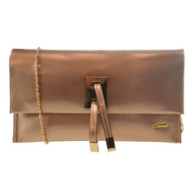 Gionni Champagne Clutch Bag
