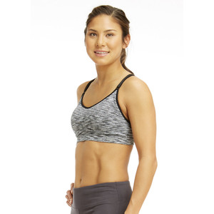 Marika BLACK SPACE DYE Tessa Seamless Power Mesh Sports Bra