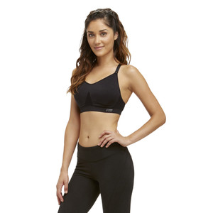 Marika Black Tessa Seamless Power Mesh Sports Bra