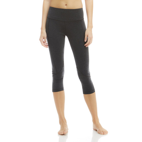 Marika HEATHERED CHARCOAL Carrie Ultimate Slimming Capri Leggings