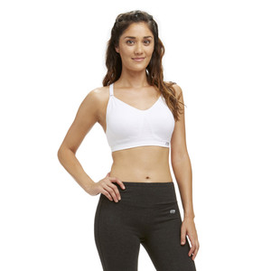 Marika White Tessa Seamless Power Mesh Sports Bra
