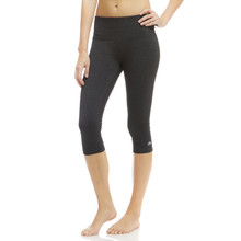 Marika Heather Black Brooke High Rise Tummy Control Capri Leggings