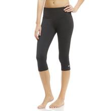 Marika Heather Black Brooke High Rise Tummy Control Capri Leggings