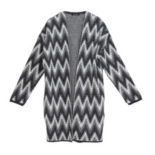 Twist Grey Print Open Knit
