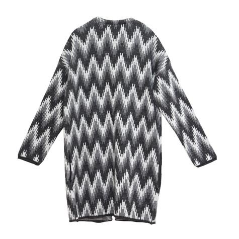 Twist Grey Print Open Knit