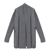 SophieB Grey Heavy Open Long Knit