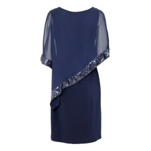 Scarlett Navy Cape Chiffon Dress