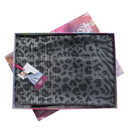 Something Special Charcoal Pattern Scarf