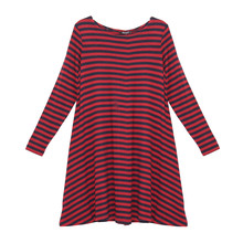Twist Navy & Red Stripe Long Sleeve Dress