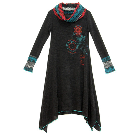 SophieB Black Cowl Neck Knit Dress