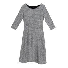 Twist Grey Long Round Neck Dress
