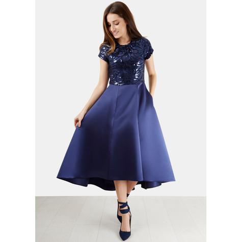 9964951cd46dc3 Closet Navy Sequin Top Dress