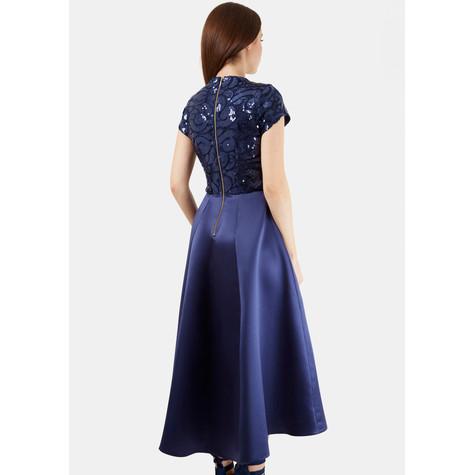 b86b432ace2e59 Closet Navy Sequin Top Dress