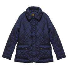 Lady Von Hart Collared Padded Navy Coat