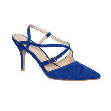 Moow Royal Blue Micro Fibre Closed Toe Shoe