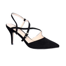 Moow Black Micro Fibre Closed Toe Shoe