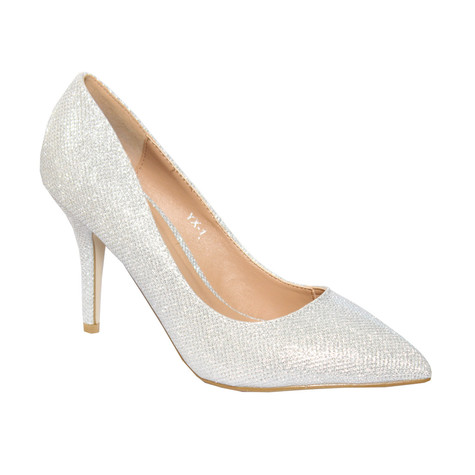 082ba9b28f3 Forever Follie Silver Glam Court Shoe