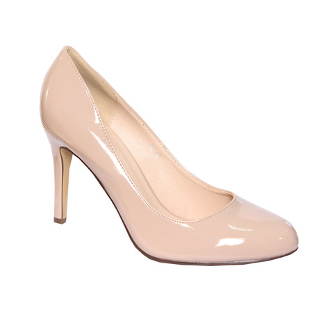 32a30c1da27 Forever Follie Beige Patent Court Shoe