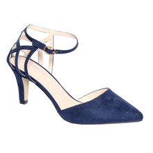 Moow Navy Micro Fibre Closed Toe Shoe