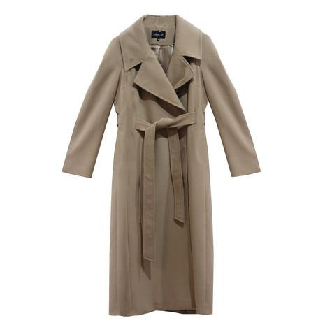 SophieB Camel Long Belted Coat