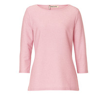Betty Barclay Pale Pink Ribbed Round Neck Top