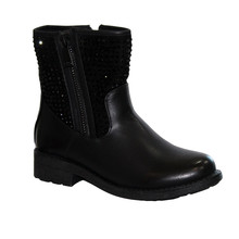 Abloom Black Biker Look Glam Boot