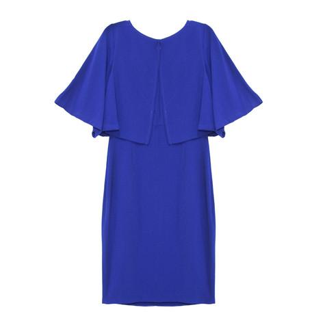 Sangria Colbalt Cape Dress