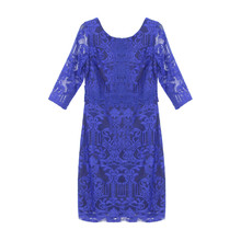 Sangria Royal Blue Lace Dress