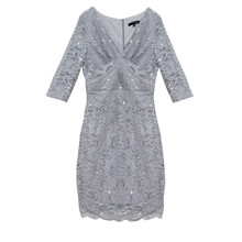 Sangria Grey & Silver Sequence Dress