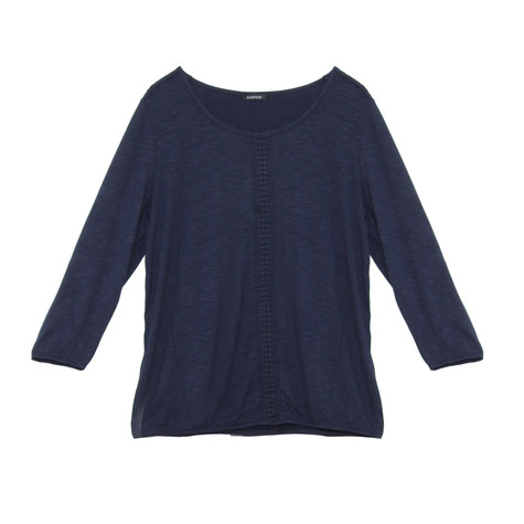 Bianca Navy Round Neck Top