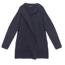 Bianca Navy Ribbed Open Knit