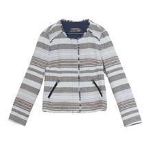 Bianca Beige Stripe Round Jacket