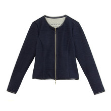 Bianca Navy Zip Knit
