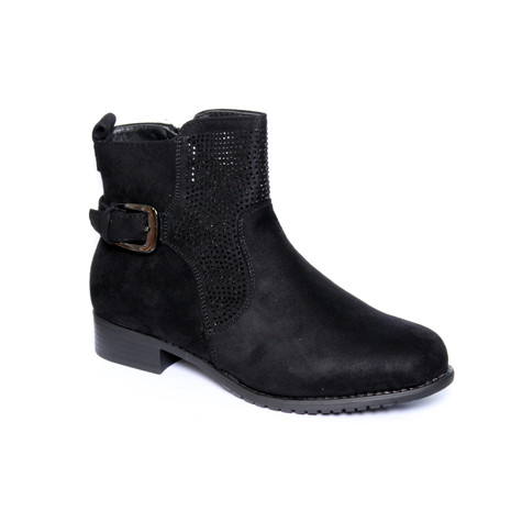 Jin Ma Black Micro Fibre Glam Boot