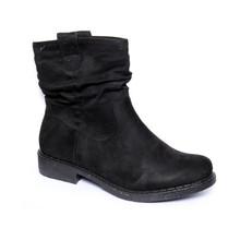 Emella Black Micro Fibre Pull on Comfort Boots