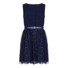 Yumi Girls Embroidered Floral Prom Dress
