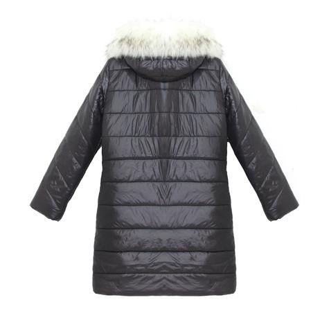 Kelya White & Black Fun Fur Winter Coat - NOW €65 -