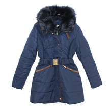 Kelya Navy Fun Fur Winter Coat