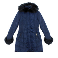 Kelya Navy Fun Fur Winter Coat - €70 -