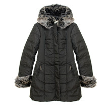 Kelya Black Fun Fur Winter Coat